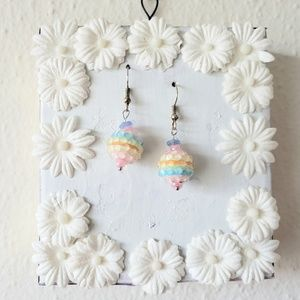 Jewelry - Handmade Pastel Rainbow Earrings